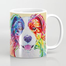 Rainbow Border Collie - Toby Coffee Mug