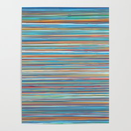 Colorful lines summer pattern Poster