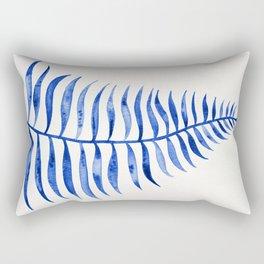 Navy Palm Leaf Rectangular Pillow