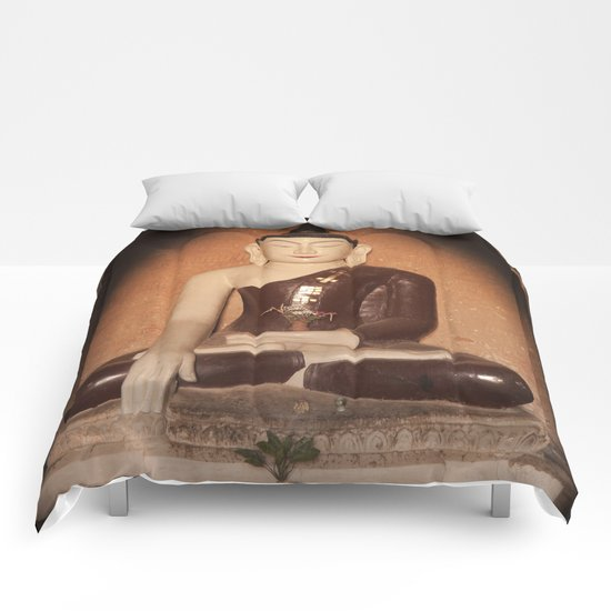 Buddha in Bagan Comforters