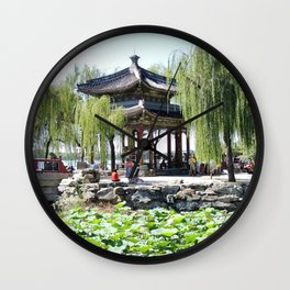 Ancient Imperial Garden of the Qing Dynasty | Ancien Jardin Impérial de la dynasty de Qings Wall Clock