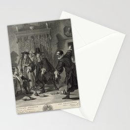 P. Tanjé (1758) - Rival Mathematicians Urinaal and Raasbollius Arguing Stationery Cards