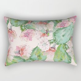 spring cacti bloom Rectangular Pillow