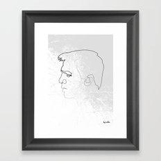 One line 007 (Daniel Craig) Framed Art Print