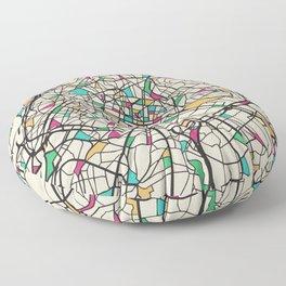 Colorful City Maps: Paris, France Floor Pillow