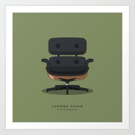 Lounge Chair - Charles & Ray Eames Art Print