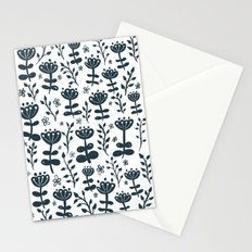 White Blooms Stationery Cards