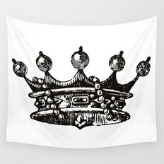 Royal Crown | Black and White Wall Tapestry