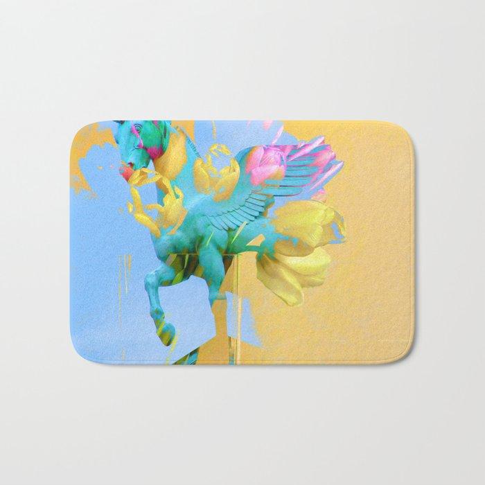 The Fly of Angelic Flowers - Digital Mixed Fine Art Bath Mat