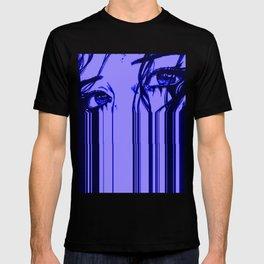 Sad anime aesthetic - blue sadness T-shirt