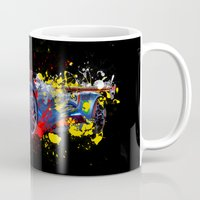 sport Mugs featuring sport car by mark ashkenazi