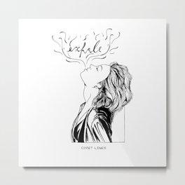 Exhale Metal Print