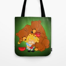 Goldilocks and the Three Bears Tote Bag