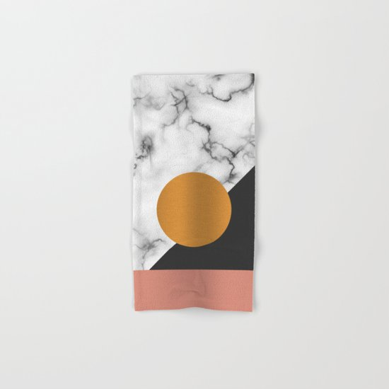 Marble & metals Hand & Bath Towel