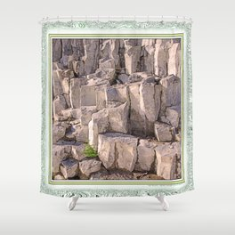 LITTLE LONE TREE IN COLUMNAR BASALT FORMATION Shower Curtain