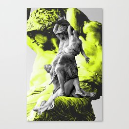 Statue of the robbery of Polyxena by Pio Fedi in  Florence Canvas Print