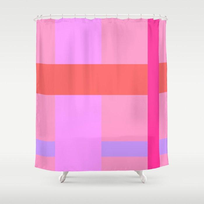 Krypton Neon Shower Curtain By Colorblocks