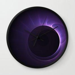 Amethyst Eclipse Wall Clock