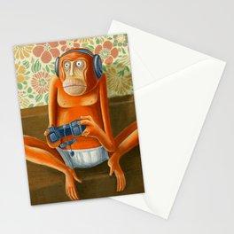 Monkey play Stationery Cards