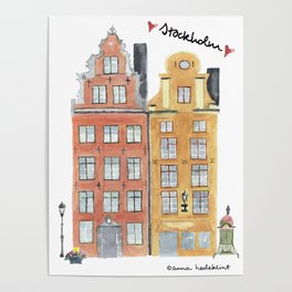 Stockholm houses Poster