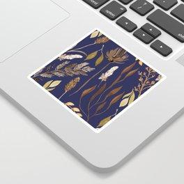 Fall Foliage on Navy Sticker