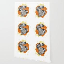 Lemur Distressed Wallpaper