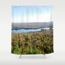 Above The Fall Shower Curtain