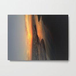 Sunset on edge Metal Print