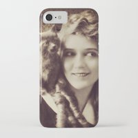 thundercats iPhone & iPod Cases featuring Mary Pickford - Vintage Lady with kitten by Augustinet