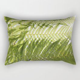 House Plant Fern Leaf Silhouette Sunlight Zen Photo Rectangular Pillow