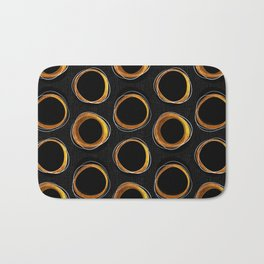 Solar Eclipse MCM Gold-Black Bath Mat