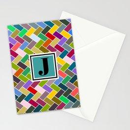 J Monogram Stationery Cards