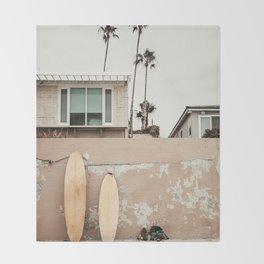 San Diego Surfing Throw Blanket