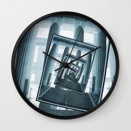 Stairs And Pillars Wall Clock