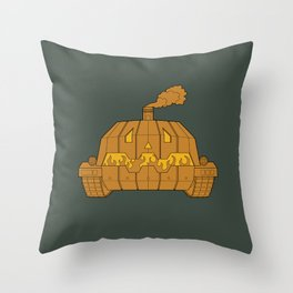 Jack-o-bot Throw Pillow
