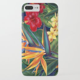 Tropical Paradise Hawaiian Floral Illustration iPhone Case