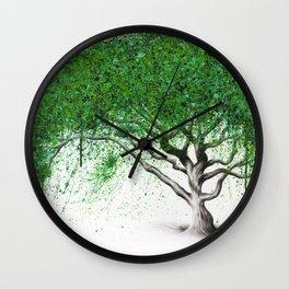 Green Breeze Tree Wall Clock