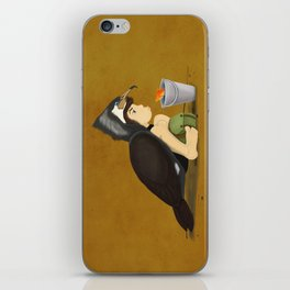 Little Black Cormorant iPhone Skin
