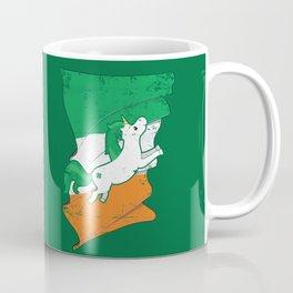 Distressed Irish Flag Unicorn St Patricks Green Coffee Mug