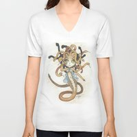 magic the gathering V-neck T-shirts featuring Snake Token - Magic the Gathering - Pharika by Deadlance