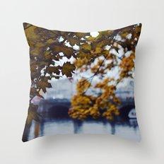 Autumn Nostalgia in Berlin Throw Pillow