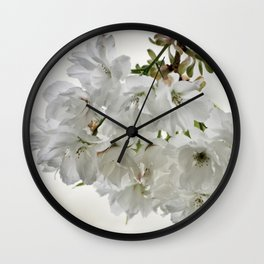 SPRING BLOSSOMS - IN WHITE - IN MEMORY OF MACKENZIE Wall Clock