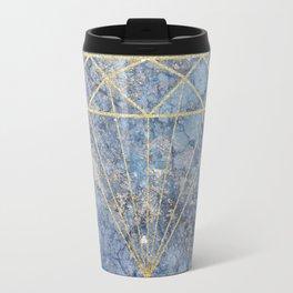 GoldDiamond Marble Travel Mug