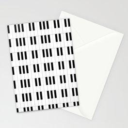 Piano Key Stripes Stationery Cards