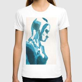 Figure in Blue T-shirt