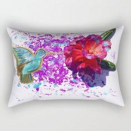 Rhododendron Hummingbird Rectangular Pillow