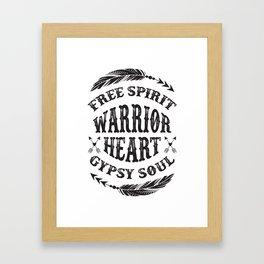 Warrior Heart Framed Art Print