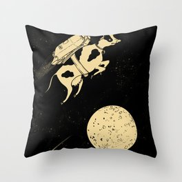 Space Cow Throw Pillow