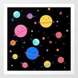 Hula Universe Art Print