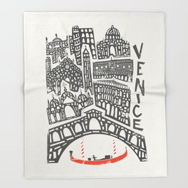 Venice Cityscape Throw Blanket